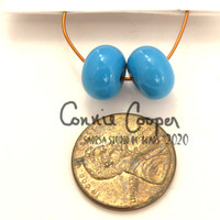 Beads, Pair, Turquoise LBS20-4408
