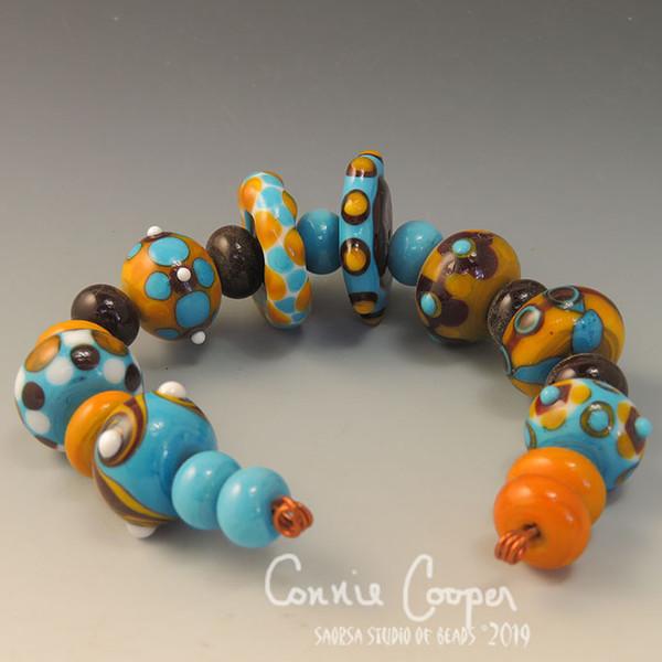 """Beads, Set of 20 """"Dougherty Cafe"""" LBS17-3487"""
