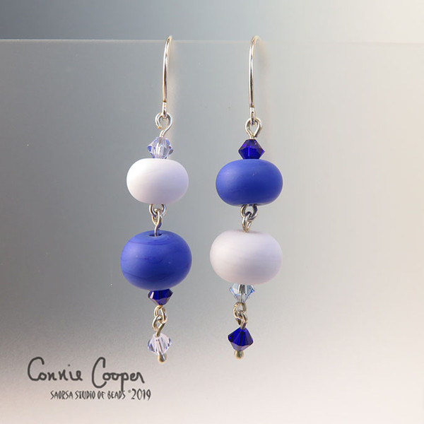 Quirkies in Blue and Very Pale Lavender GBE16-3158