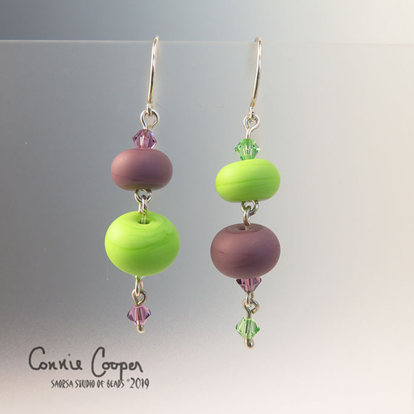 Quirkies in Dk. Lavendar and Bright Green GBE16-3157