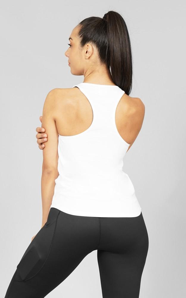 BPM: White Ladies Slim-Fit Singlet