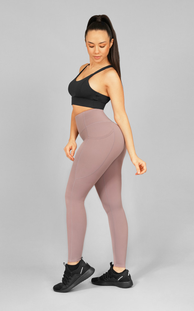 Your Gym: Taupe Mauve Ultra Hi-Rise with Pocket