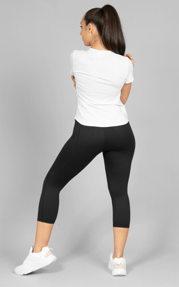 Your Gym: Ultra Hi-Rise 3/4 Length With Pocket