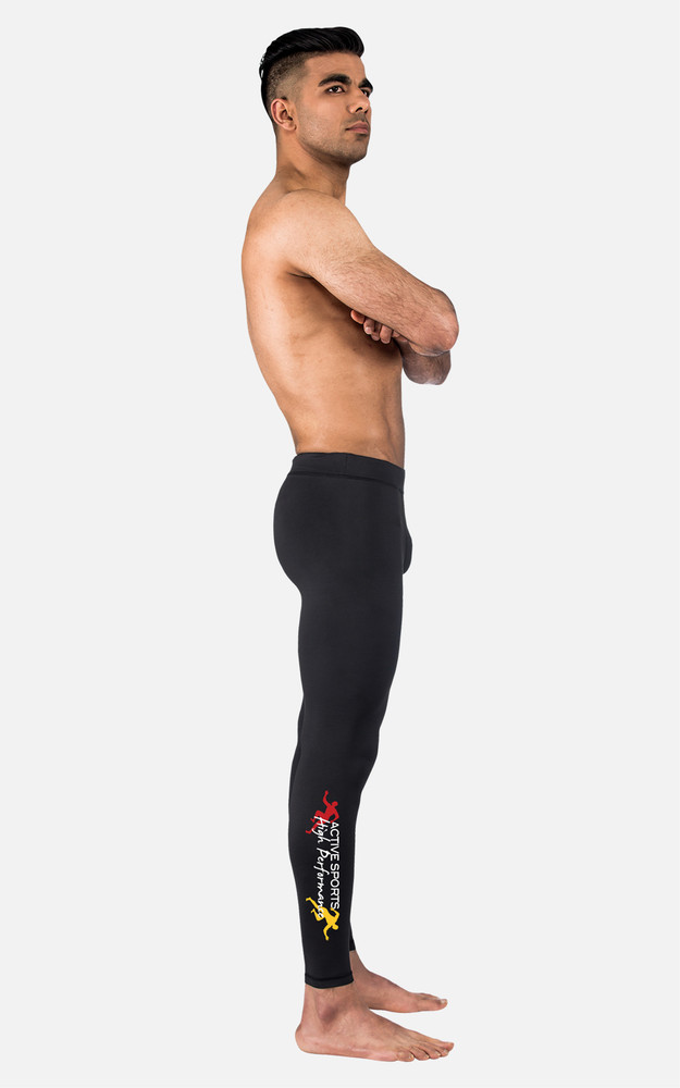 Active Sports: Mens Full Length Compression Tights