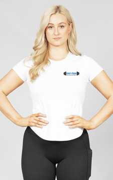 Lee's Gym: White Ladies Slim-Fit Tee