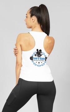 Lee's Gym: White Ladies Slim-Fit Singlet