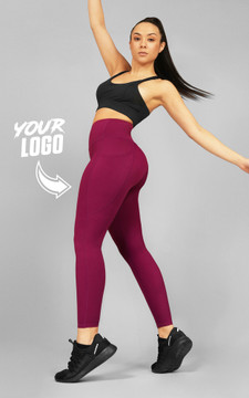 Your Gym: Merlot Ultra Hi-Rise with Pocket