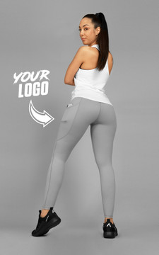 Your Gym: GREY Ultra Hi-Rise with Pocket