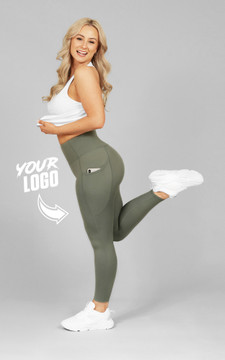 Your Gym: Khaki Ultra Hi-Rise with Pocket