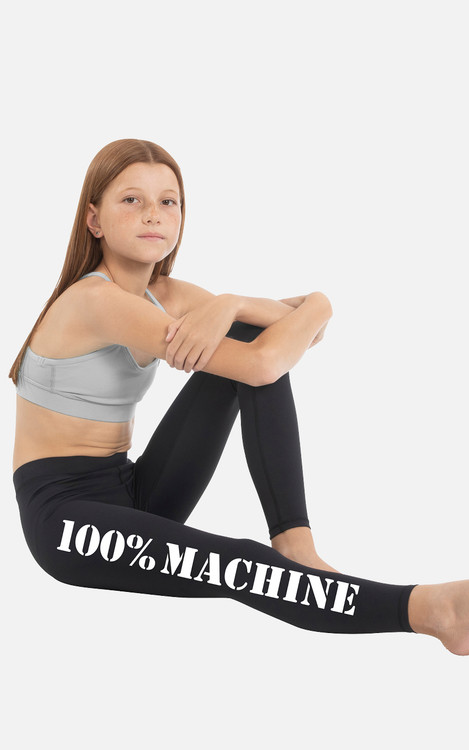 100% Machine: Youth Full Length Compression Tights