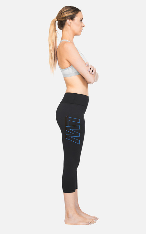 LW04: Ladies Hi-Rise 3/4 Length Compression Tights
