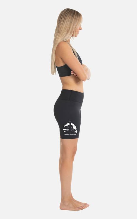 Yoga 4 Yachties, Ocean logo: Ladies Fit Shorts