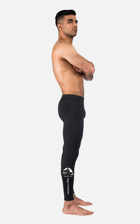 Yoga 4 Yachties, Ocean logo: Mens Full Length Compression Tights