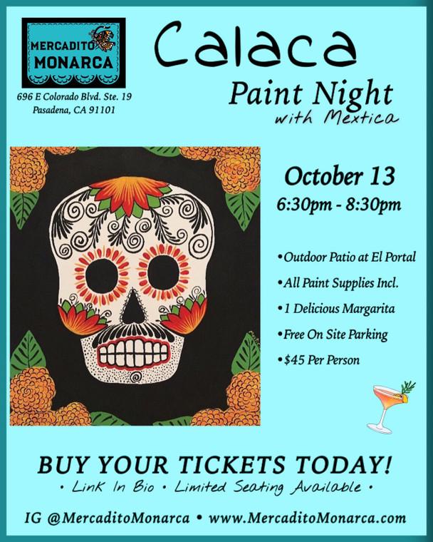 Calaca Paint Night Oct 13