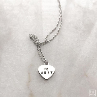 Go Away Heart Necklace