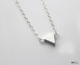 Tiny Silver Triangle Necklace