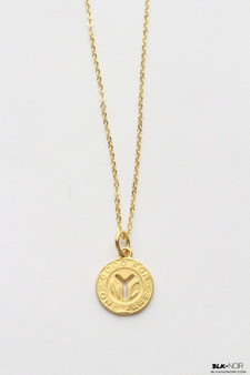 GOLD NEW YORK TRANSIT TOKEN NECKLACE