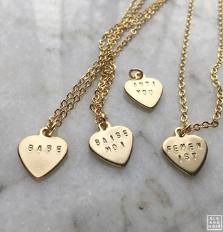 Tiny Gold Custom Heart Necklace