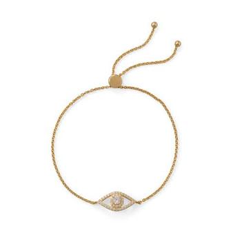 Gold Evil Eye Bolo Bracelet