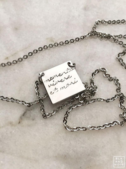 Memento Vivere Et Mori Necklace