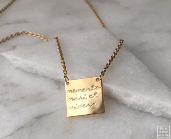 Gold Memento Mori Et Vivere Necklace
