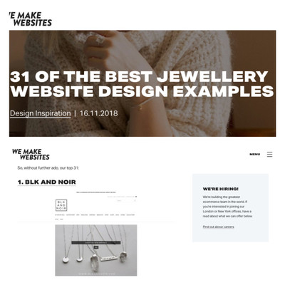 FEATURE: 31 OF THE BEST JEWELLERY WEBSITE DESIGN EXAMPLES by We Make Websites