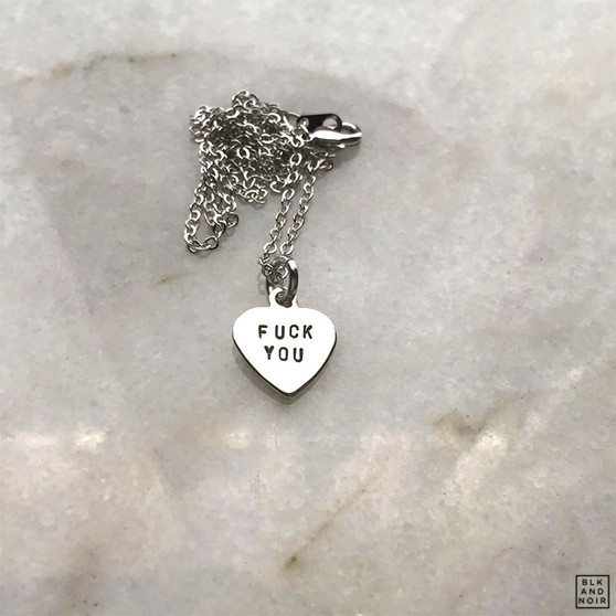 Fuck You Heart Necklace
