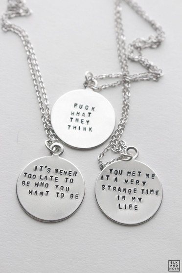 Silver Quote Necklace