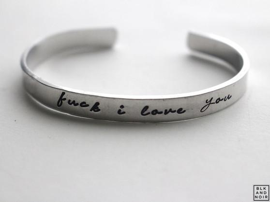 fuck I love you  bracelet