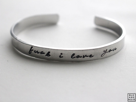fuck I love you  bracelet