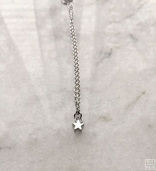 Floating Tiny Star Charm Necklace