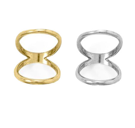 Double Band Knuckle Ring