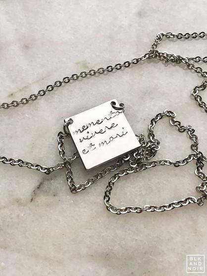 Memento Vivere Et Mori Necklace