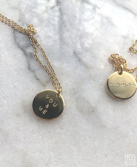 You and Me Gold Coin Necklace