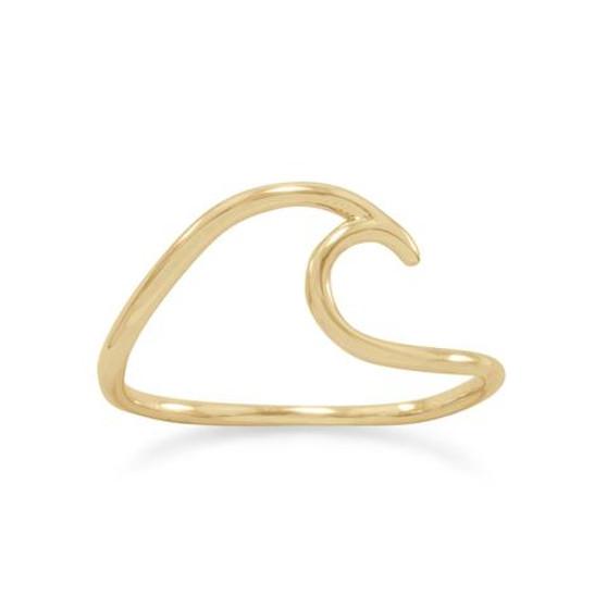 14 Karat Gold Beach Wave Ring