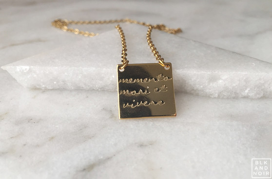 Gold Memento Mori Et Vivere Necklace