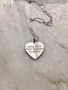 Big Engraved Heart Necklace