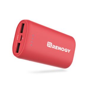 RENOGY モバイルバッテリー 10000mAH レッド スマートフォン充電器 最軽量