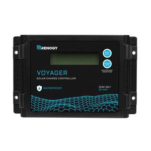 防水 RENOGY VOYAGER 20A PWMチャージコントローラー 12V/24V兼用 液晶画面付き