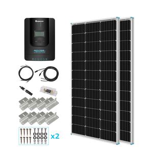 100W単結晶ソーラーパネル 2枚(200W)+MPPTチャージコントローラー20Aセット