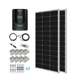 100W 単結晶ソーラーパネル 2枚(200W)+40A MPPTチャージコントローラー セット