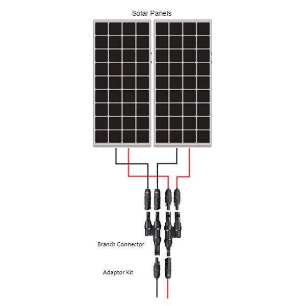 Renogy Solar MC4 Branch Connectors MMF+FFM Pair