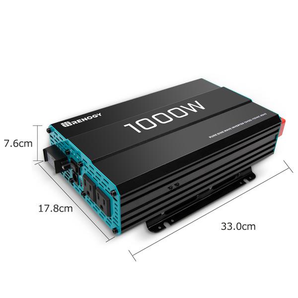 RENOGY 正弦波インバーター1000W 12V