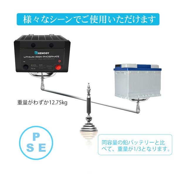 RENOGY リン酸鉄リチウムイオンバッテリー 100AH 12V