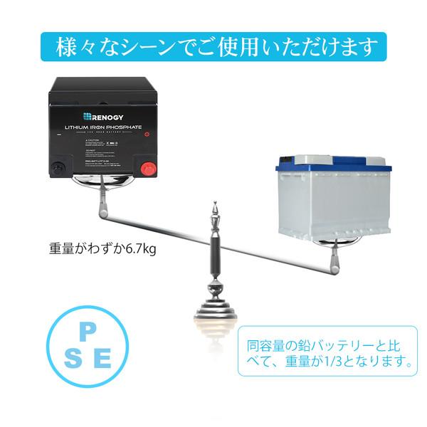 RENOGY リン酸鉄リチウムイオンバッテリー 50AH 12V