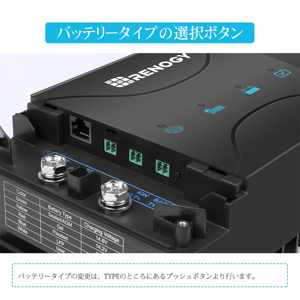 走行充電器12V 30A  MPPTチャージコントローラー内蔵