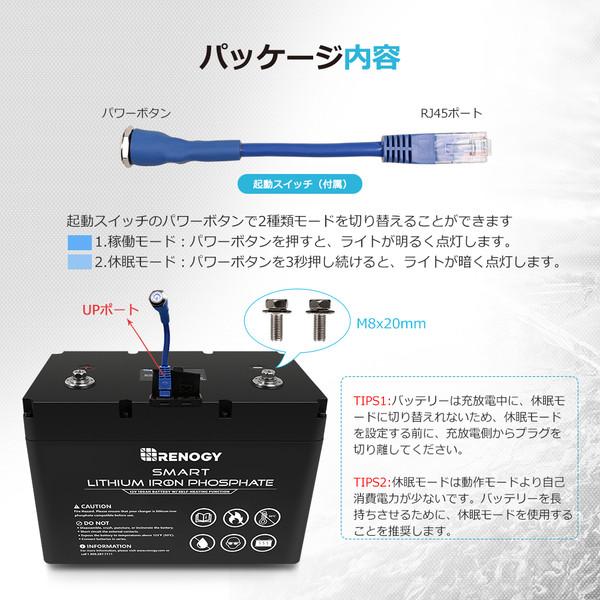 RENOGY スマート リン酸鉄リチウムイオンバッテリー100AH 12V
