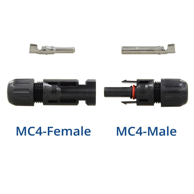 RENOGY MC4ソーラーパネルケーブル オスコネクタとメスコネクタ