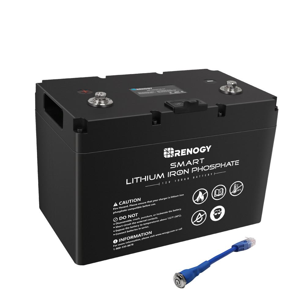 Renogy スマートリン酸鉄リチウムイオンバッテリー100AH 12V