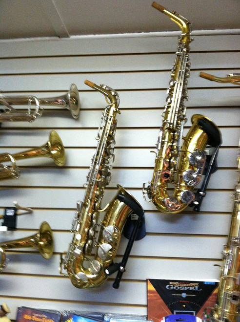 Used Student Alto Saxophones, quality, shop set up